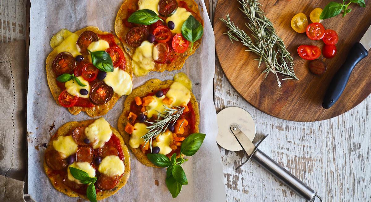 Mini Socca Pizzas {Gluten Free, Easy!}