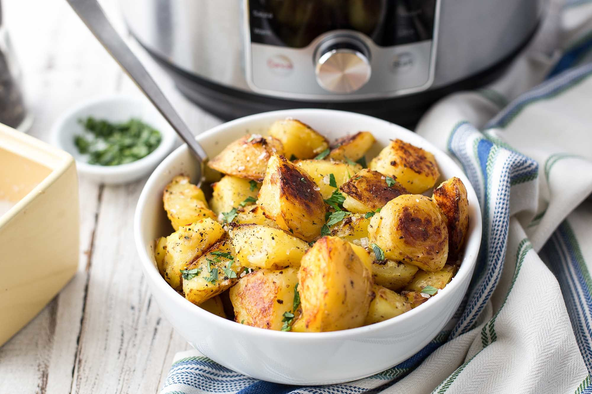 How To Cook Potatoes in the Pressure Cooker Recipe | SimplyRecipes.com