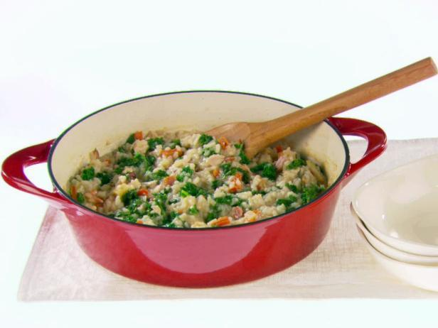 Risotto with Bacon and Kale