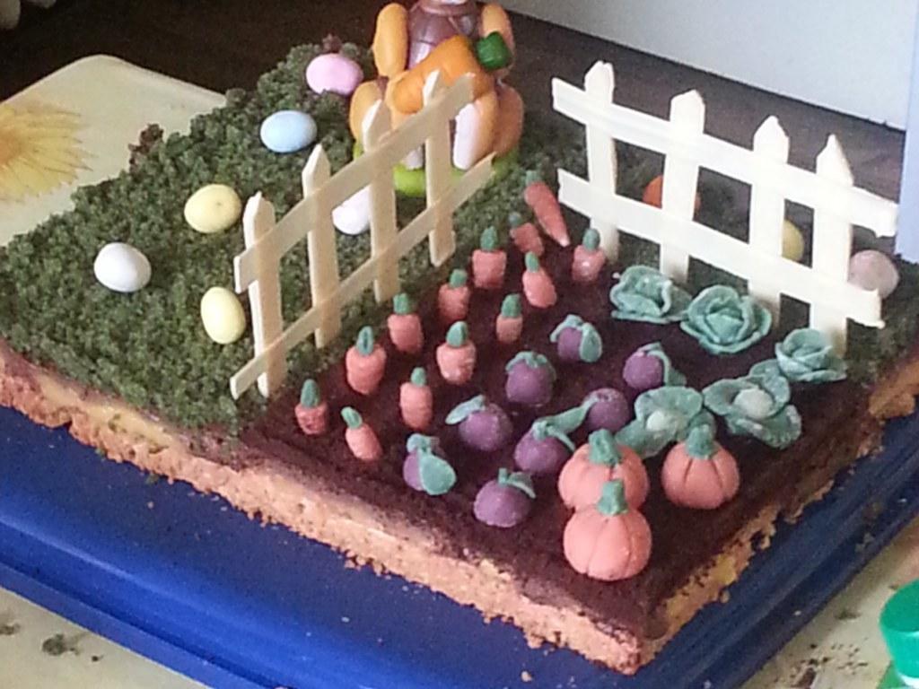 Gâteau jardin de Pâques