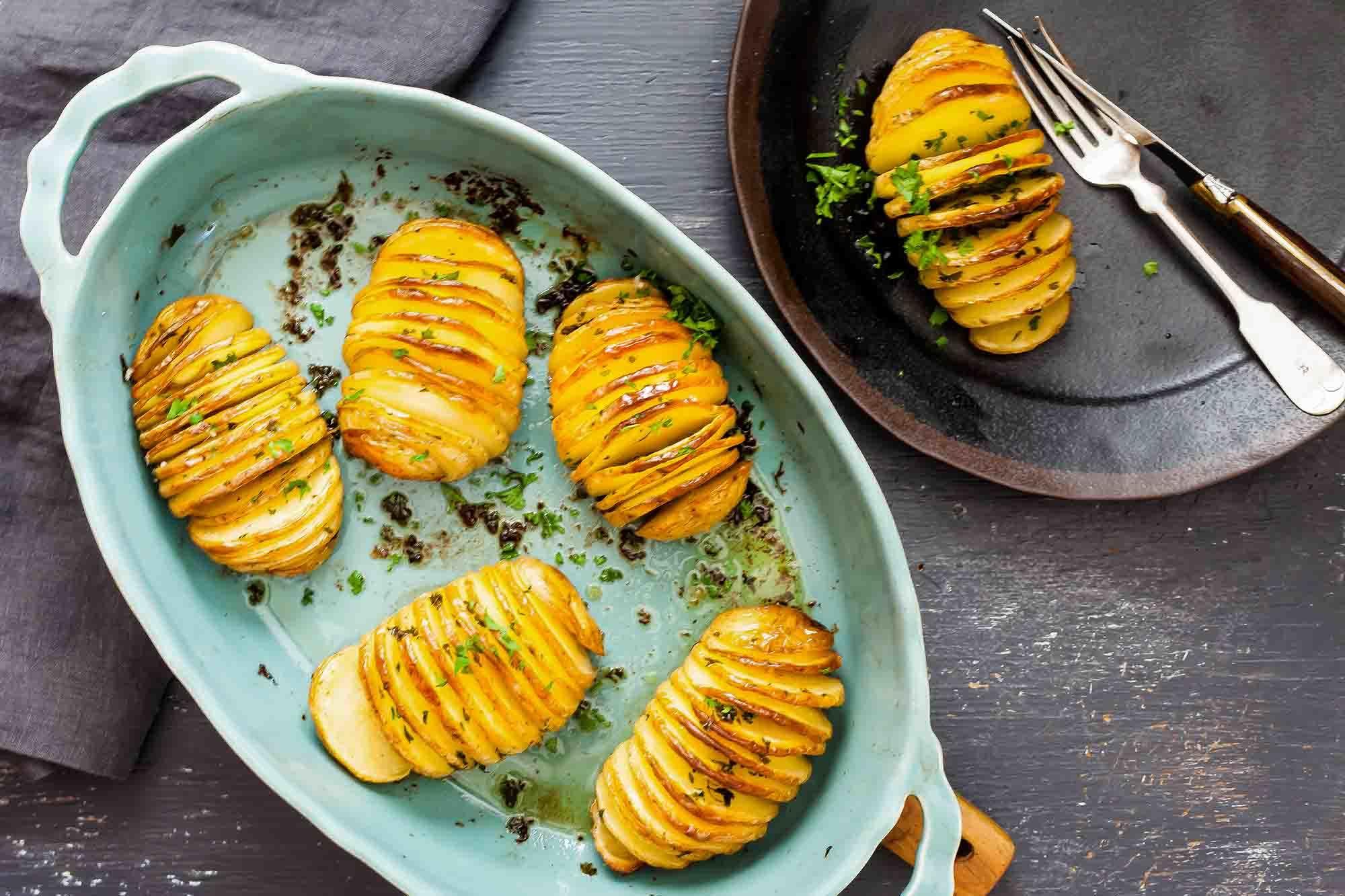 Crispy Hasselback Potatoes Recipe | SimplyRecipes.com