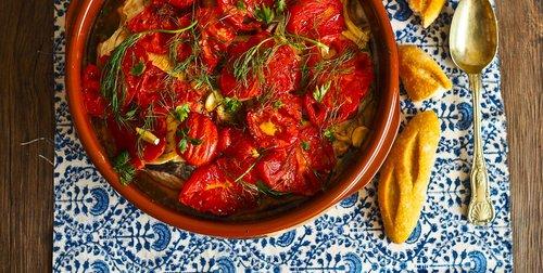 Summery portuguese fish stew caldeirada