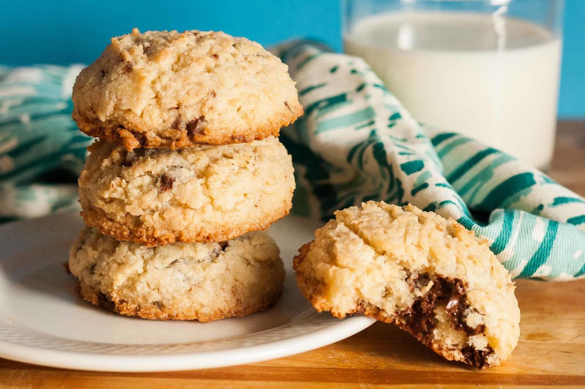 Coconut Chocolate Chip Cookies Recipe | SimplyRecipes.com