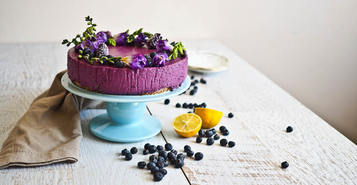 Deep Purple: Blueberry And Lemon Cheesecake