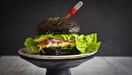 Amazing halloumi tapioca vegetarian burgers
