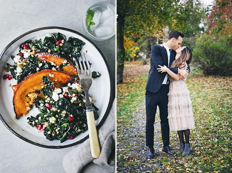 Pumpkin & Kale Salad + Just Married!