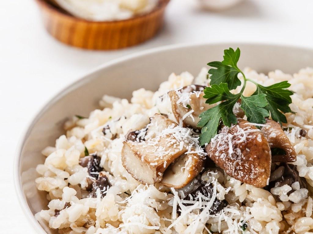 Risotto aux champignons (recette italienne du risotto alla fungaiola)