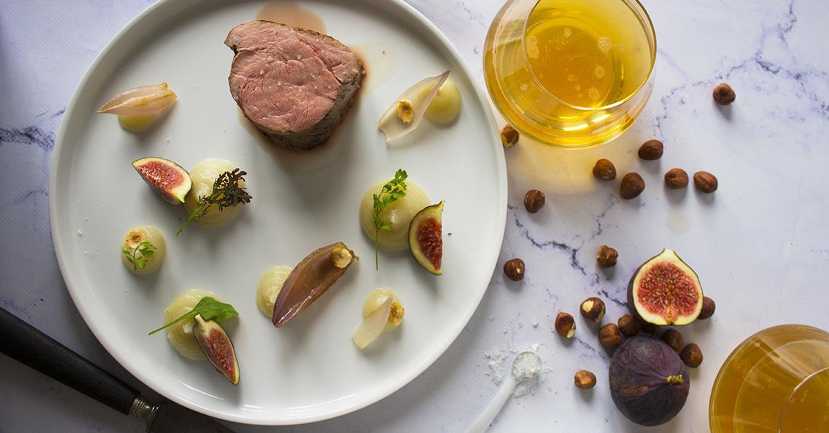 Filet mignon de veau, fruits et légumes de saison - Qblog