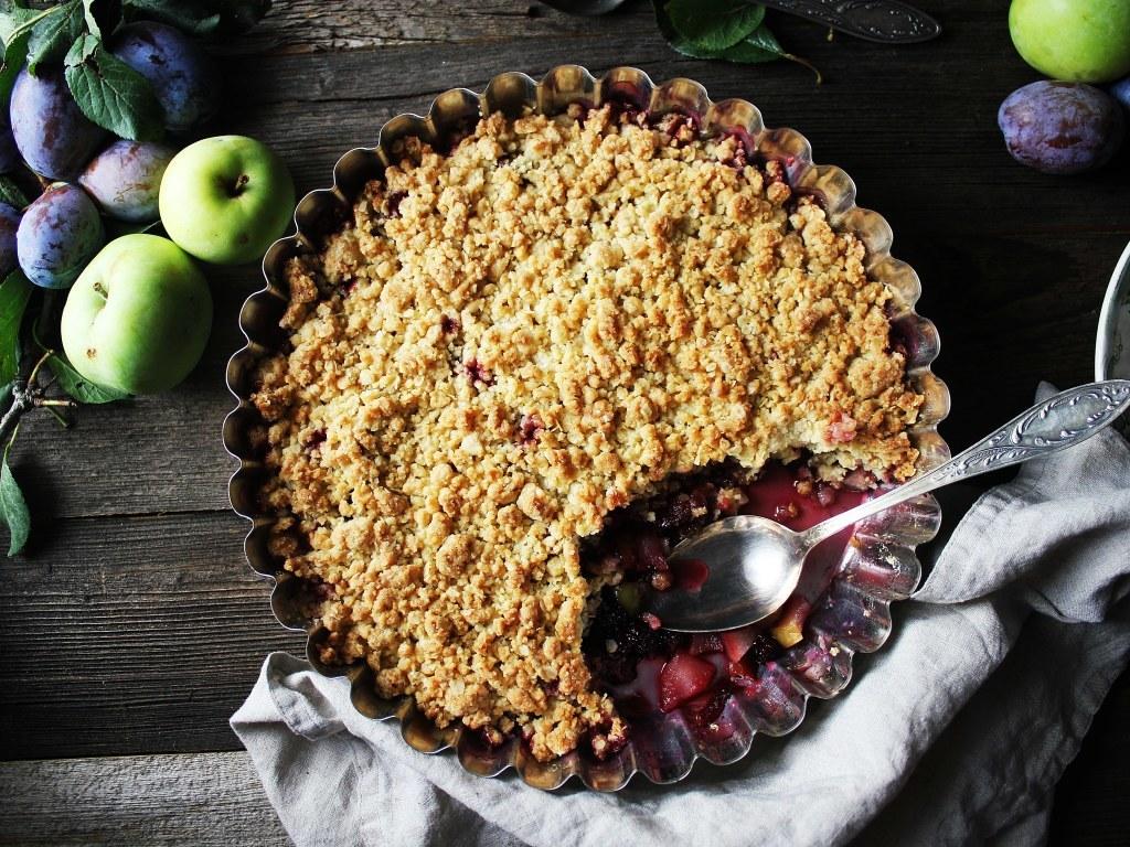 crumble pommes - prunes