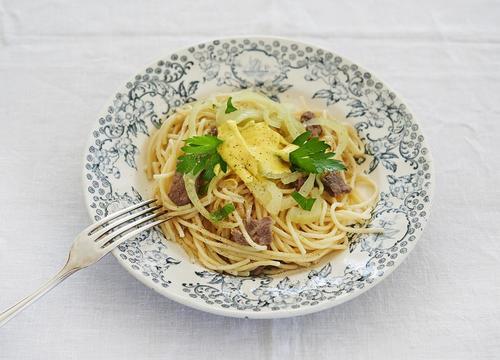 Rezept spaghetti mit safran und fenchel nzz bellevue