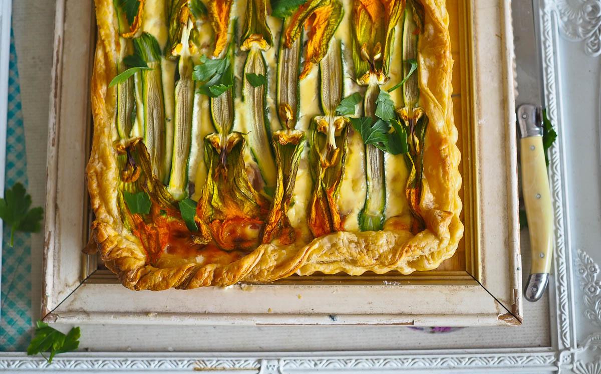 Florabundance - A Zucchini Flower Tart!