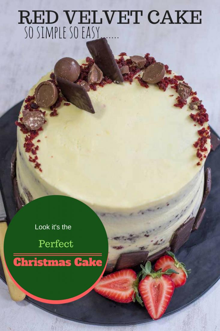 Red Velvet Cake simple easy Christmas Cake   My Kitchen Stories
