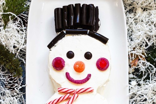 Snowman chocolate icebox cake recipe simplyrecipes.com