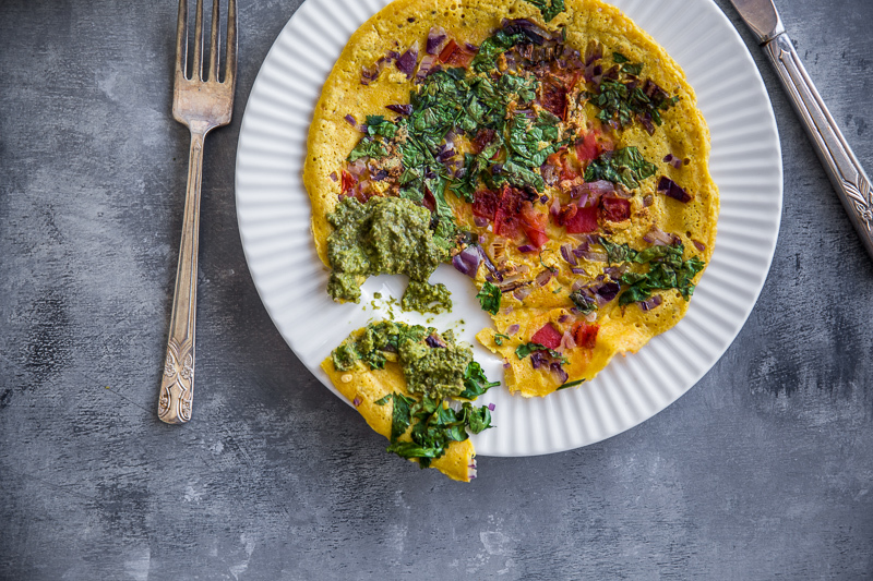 Vegan Chickpea Masala Omelette - Cook Republic
