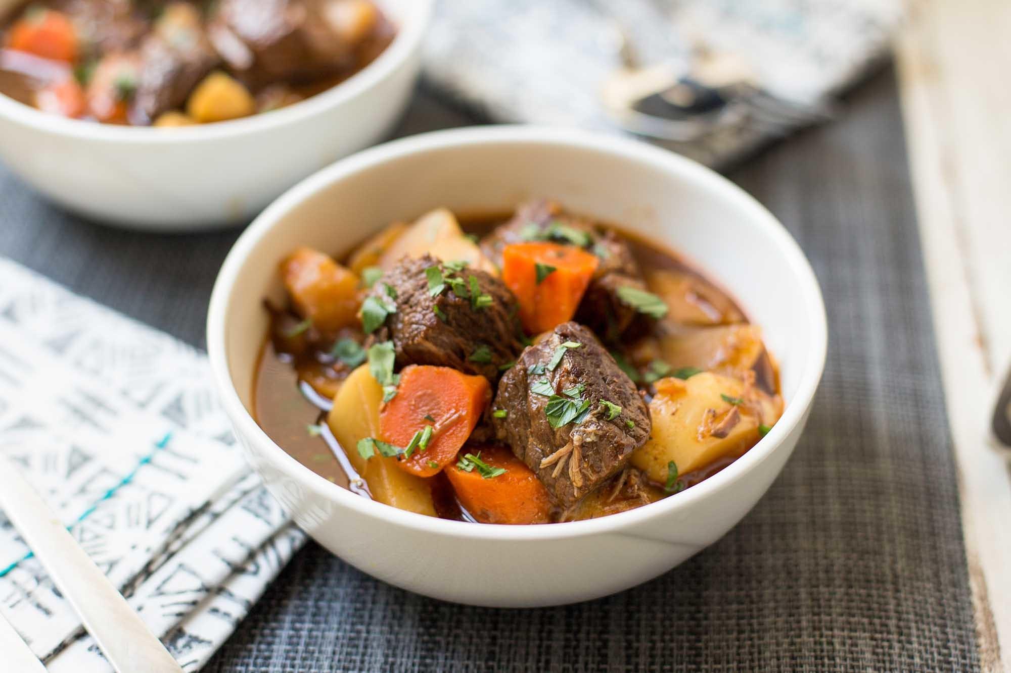 Pressure Cooker Guinness Beef Stew Recipe | SimplyRecipes.com