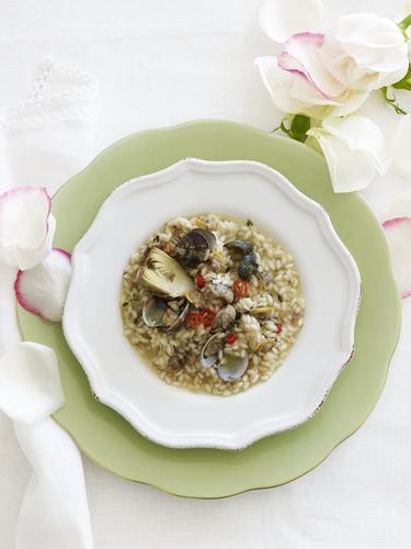Rezept risotto mit venusmuscheln und artischocken nzz bellevue