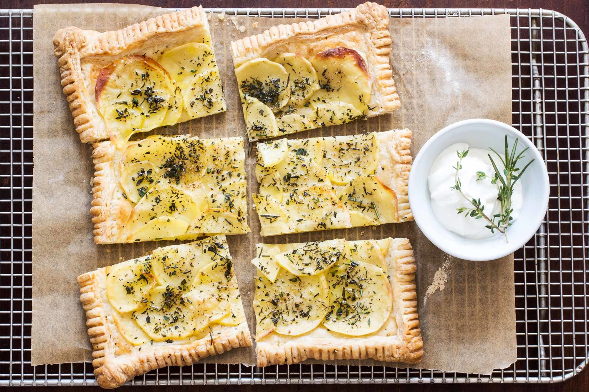 Potato Herb Tart Recipe | SimplyRecipes.com