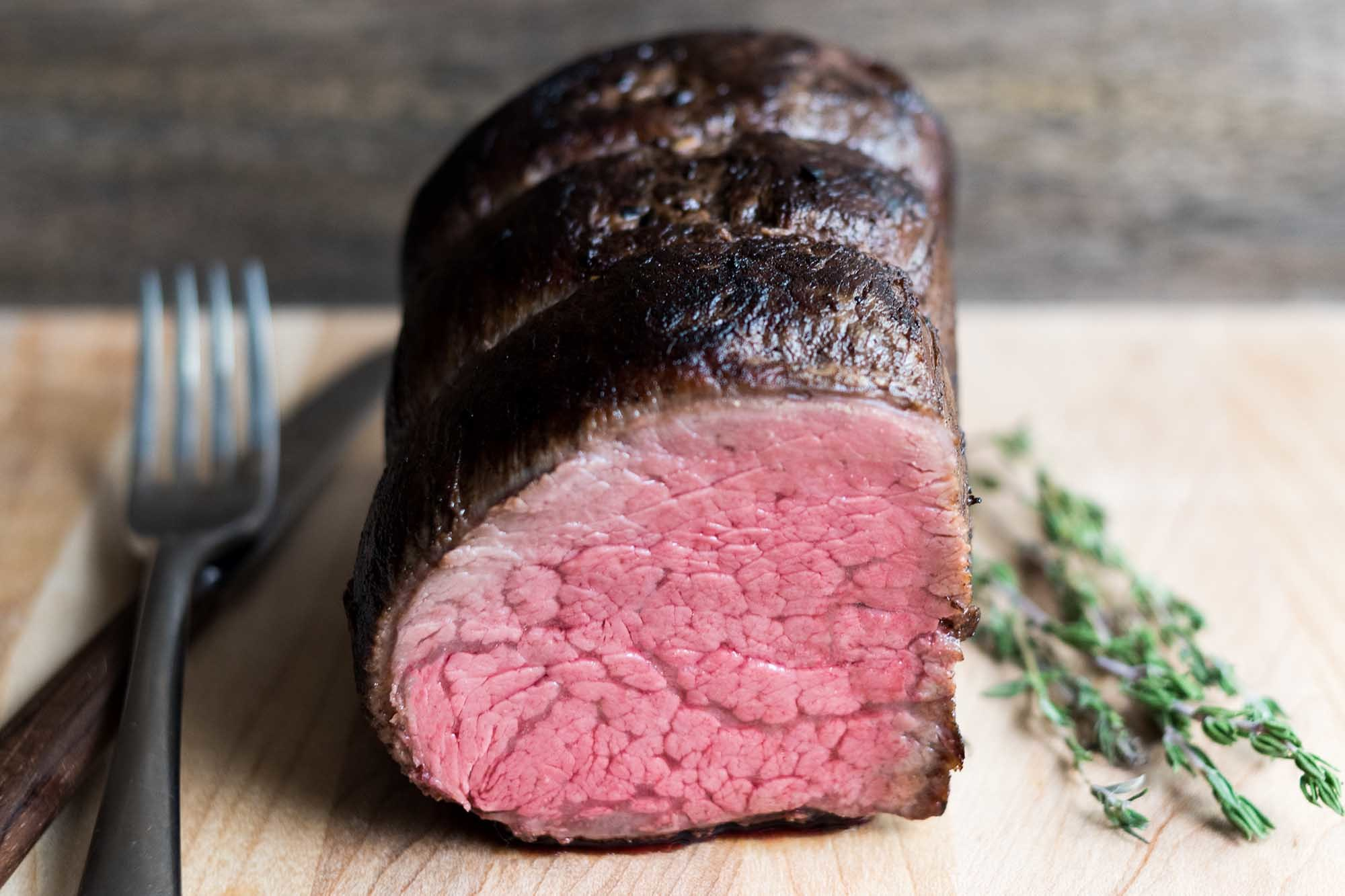 Sous Vide Beef Tenderloin with Port Wine and Garlic Recipe | SimplyRecipes.com