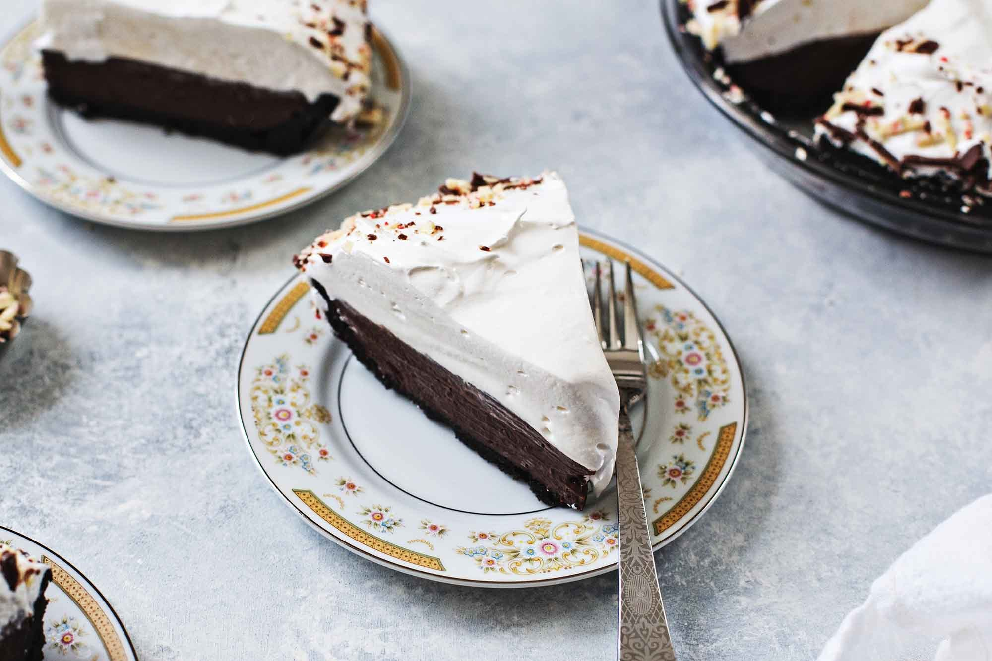 Mint Chocolate Cream Pie Recipe | SimplyRecipes.com