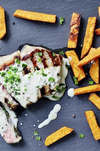 Rezept entrecotes mit sweet potato fries nzz bellevue