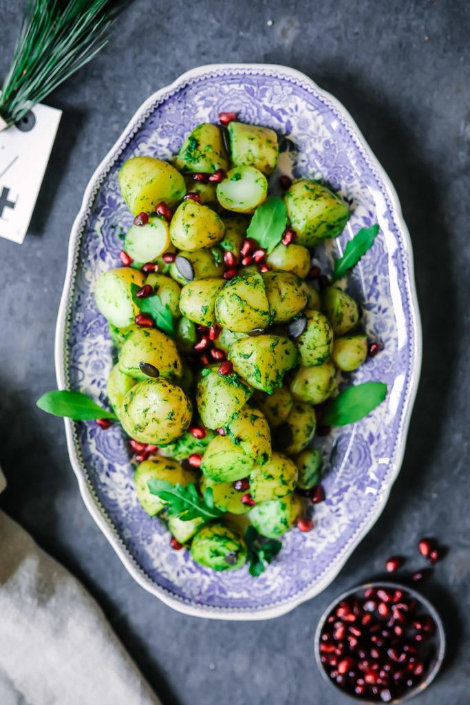 Kartoffeln mit Rucola granatapfel  | Zucker, Zimt und Liebe