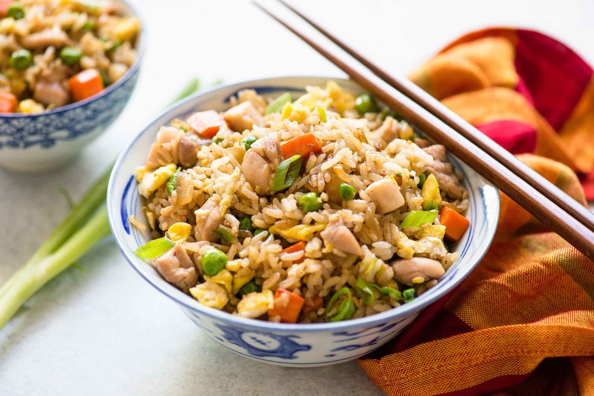 Chicken Fried Rice Recipe | SimplyRecipes.com