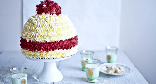 Cherry ripe snow beanie christmas cake