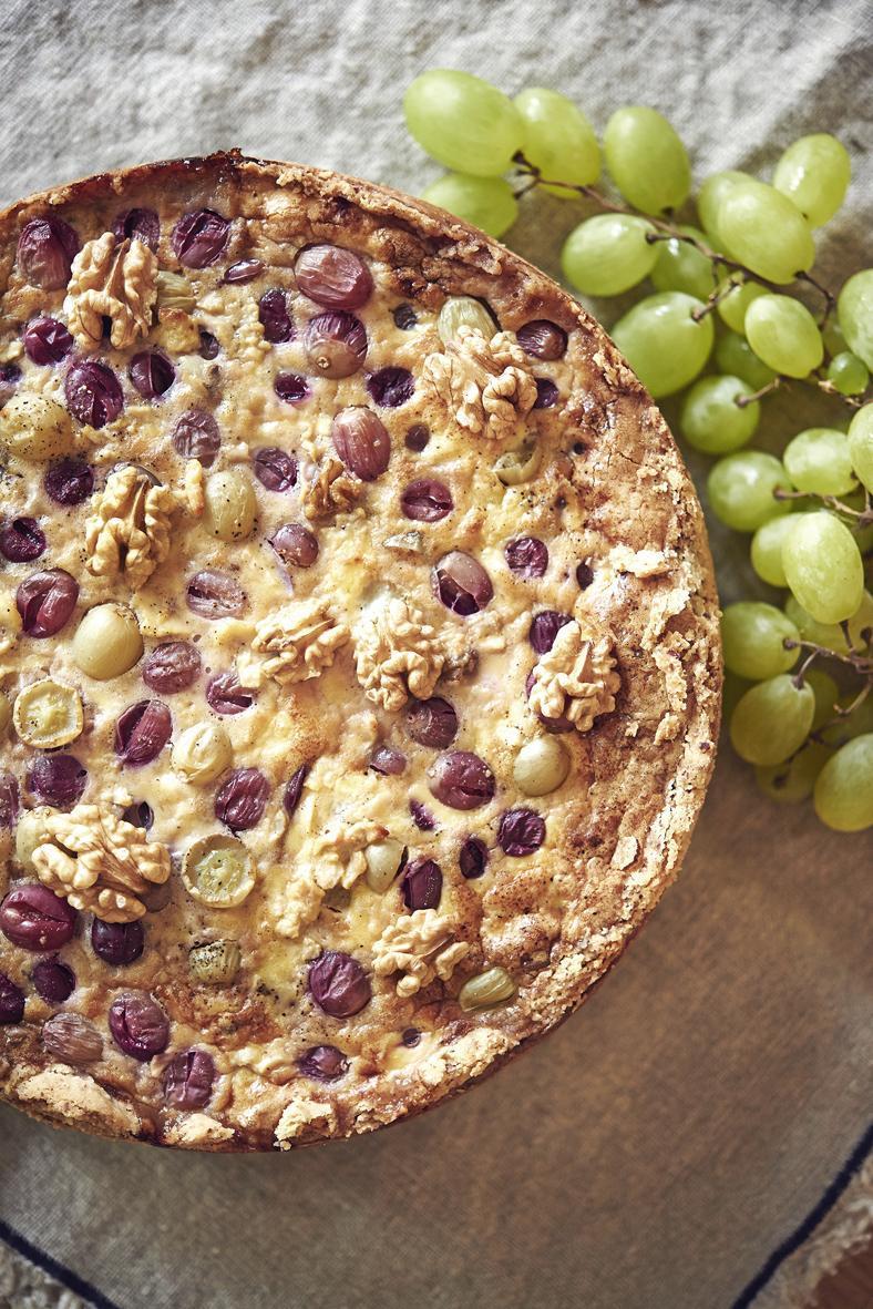 Rezept: Tarte mit Geissenkäse und Trauben | NZZ Bellevue