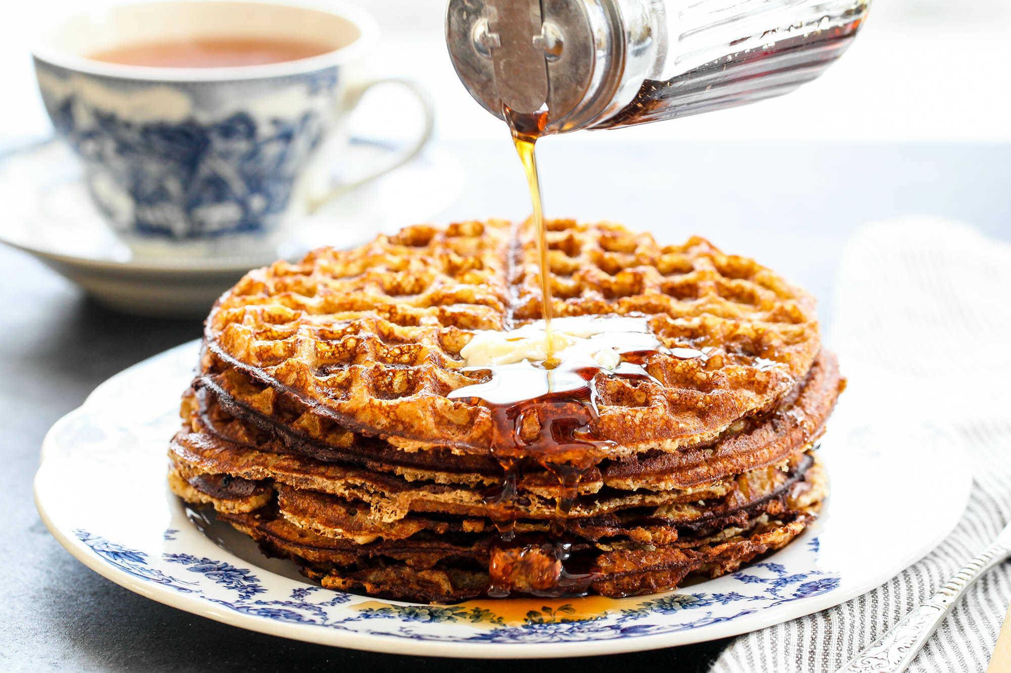 Crispy Gluten-Free Almond Flour Waffles | SimplyRecipes.com