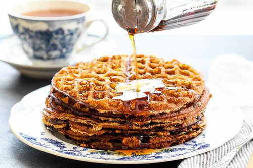 Crispy gluten free almond flour waffles simplyrecipes.com