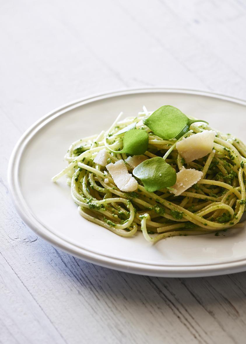 Rezept: Spaghetti mit Portulak-Pesto | NZZ Bellevue