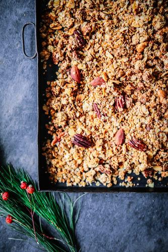 Weihnachts nuss granola rezept zucker zimt und liebe