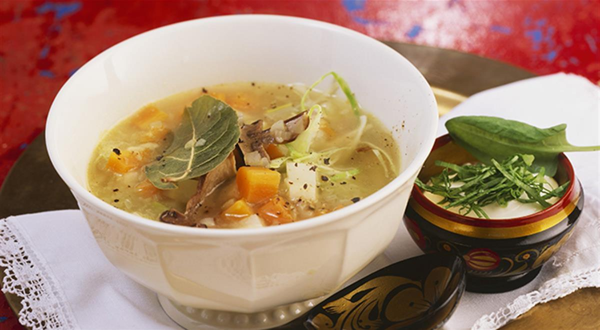 Shchi: Russian cabbage soup with sorrel