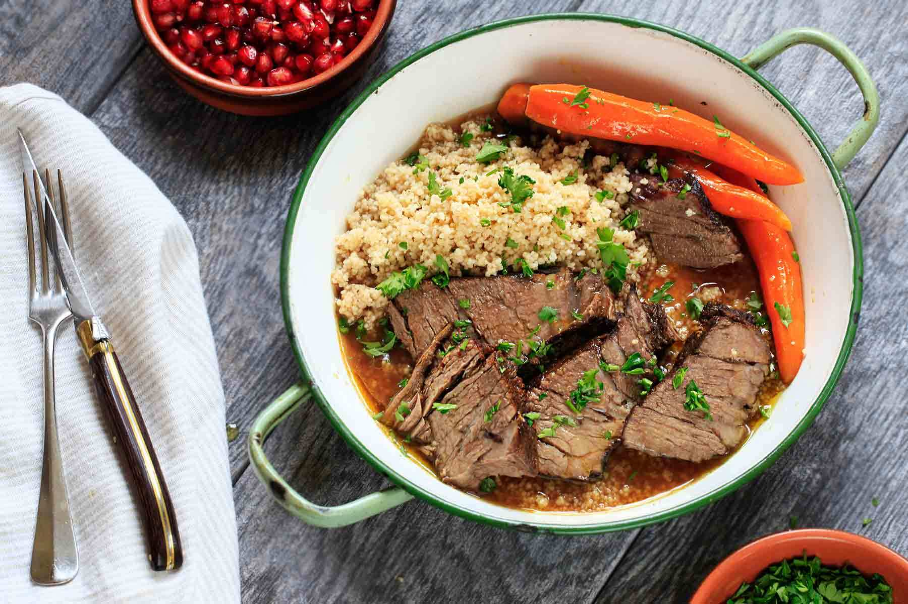 Moroccan Pot Roast Recipe | SimplyRecipes.com
