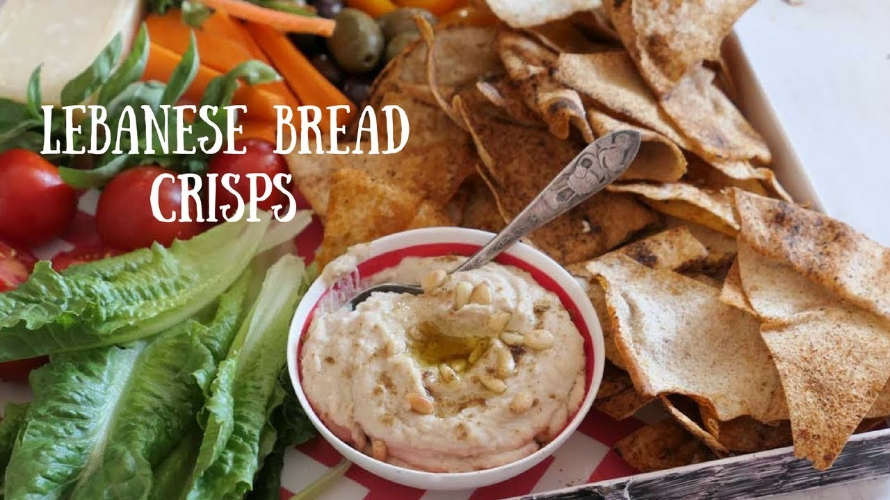 Easy Lebanese Bread Crisps. Bake them up. | My Kitchen Stories
