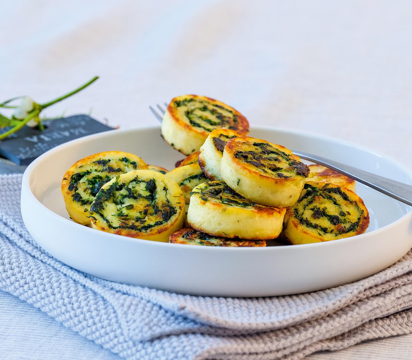 Kartoffel-Spinat-Rolle