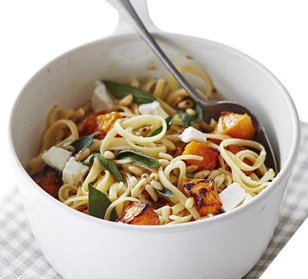 Butternut squash & goat's cheese spaghetti | BBC Good Food