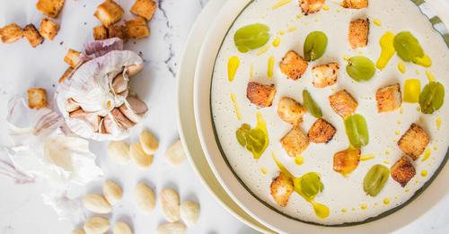 Ajo blanco gazpacho blanc qblog
