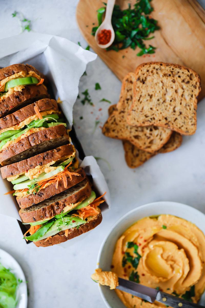 Süsskartoffel-Hummus Sandwich | Zucker, Zimt und Liebe