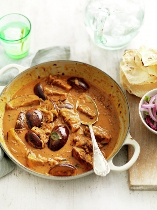 Spiced aubergine coconut curry jamie oliver