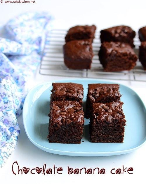Eggless chocolate banana cake | With wheat flour