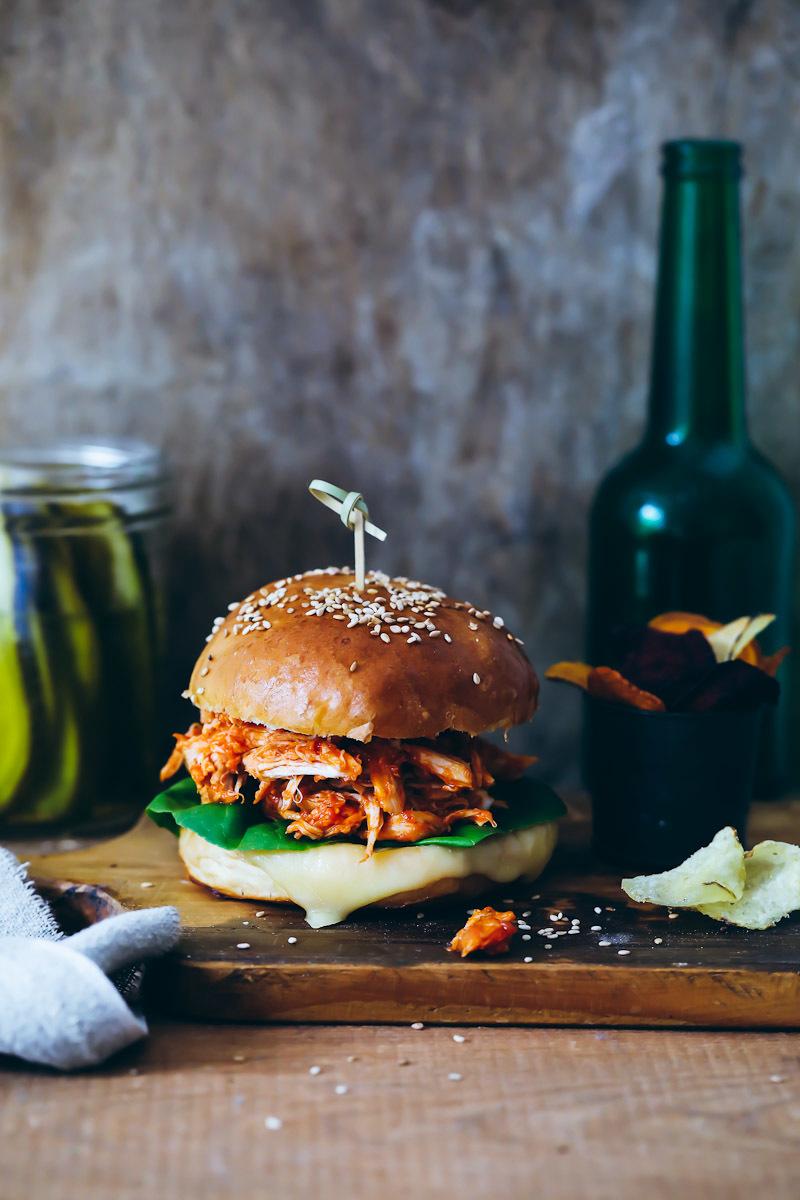 Pulled Chicken Burger Rezept | Zucker, Zimt und Liebe