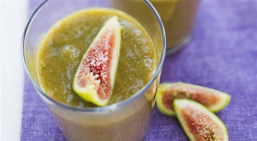 Fig smoothie with watermelon and peach