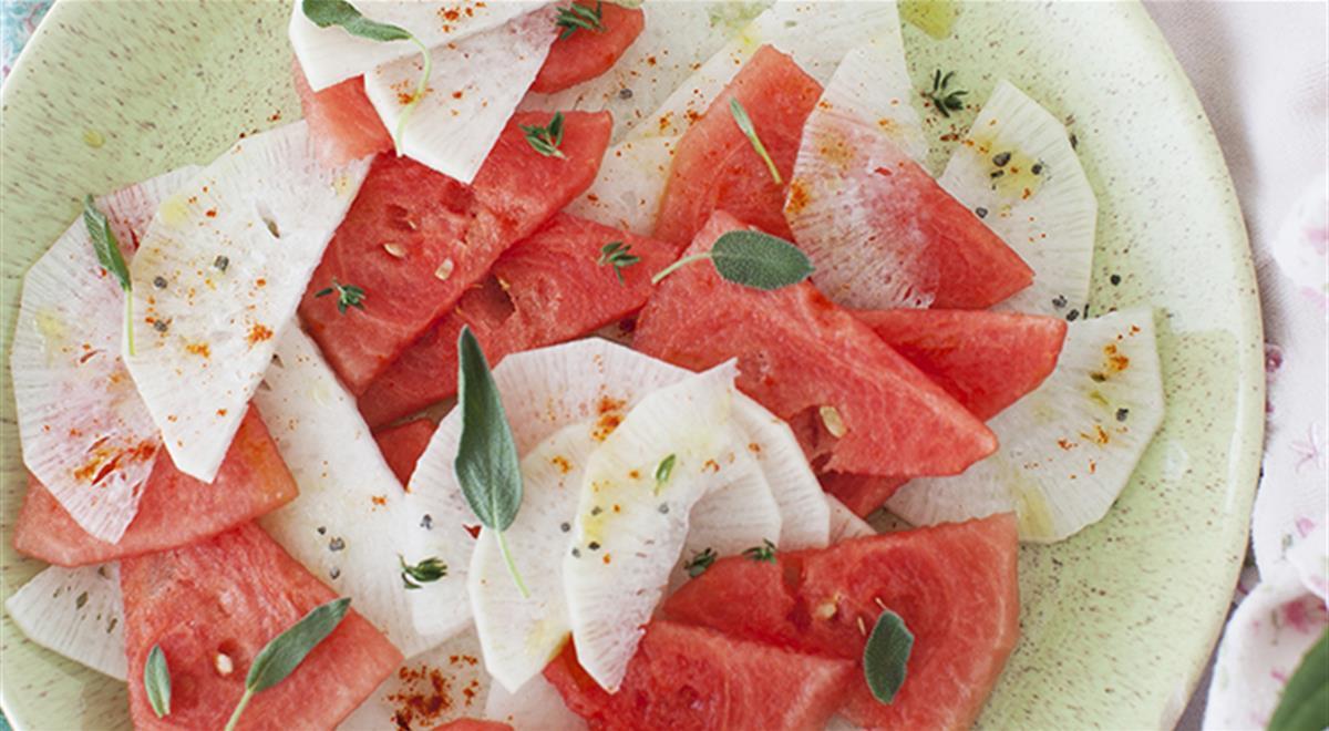 Watermelon and Daikon Salad
