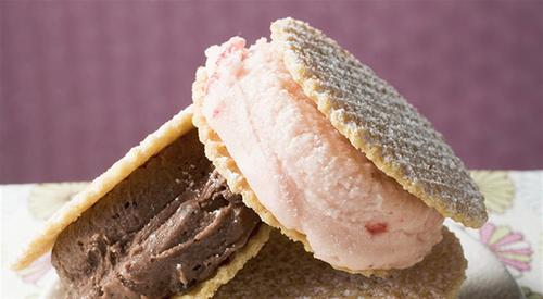 Wafer ice cream sandwiches