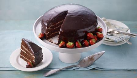 BBC Food - Recipes - Chocolate reflection cake
