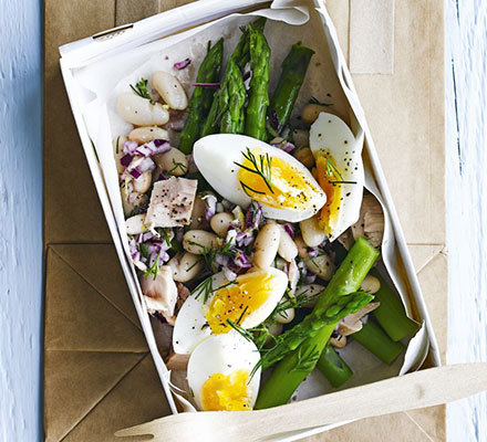 Lemony tuna & asparagus salad box | BBC Good Food