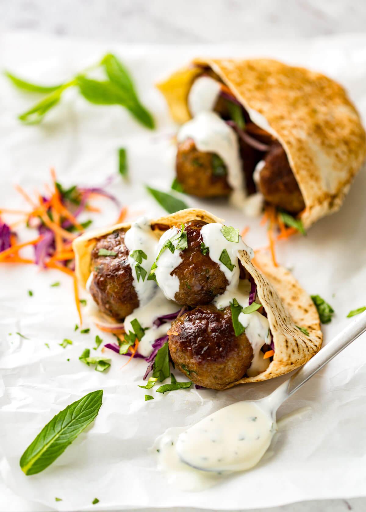 Moroccan Lamb Meatballs | RecipeTin Eats