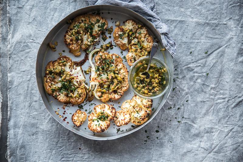 Cauliflower Steak With Olive And Caper Salsa - Cook Republic
