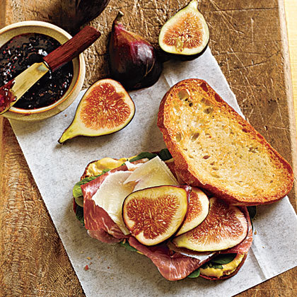 Prosciutto, Fresh Fig, and Manchego Sandwiches